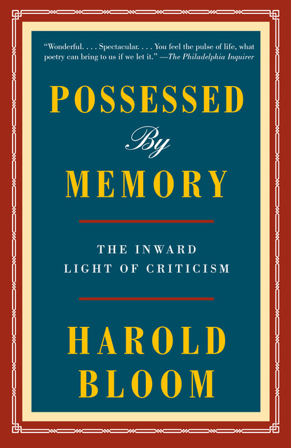possessed by memory ebook by harold bloom author