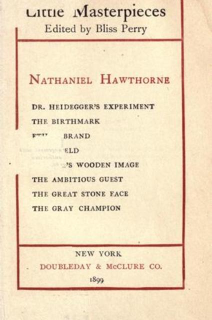 a comparison of nathaniel hawthornes the birthmark and dr heideggers experiment Web quiz your assignment, hawthorne, the birthmark is ready you can bookmark this page if you like - you will not be able to set.
