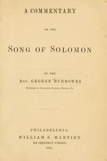 song of solomon commentary essay Matthew henry's commentary – song of solomon but this song of solomon's is very much unlike the songs of his father david or nuptial song.