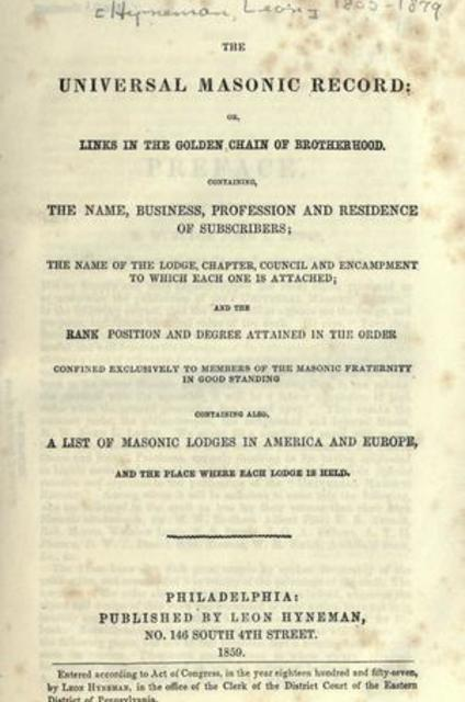 The universal Masonic record, or, links in the golden chain