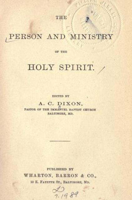 The person and ministry of the Holy Spirit (eBook) by