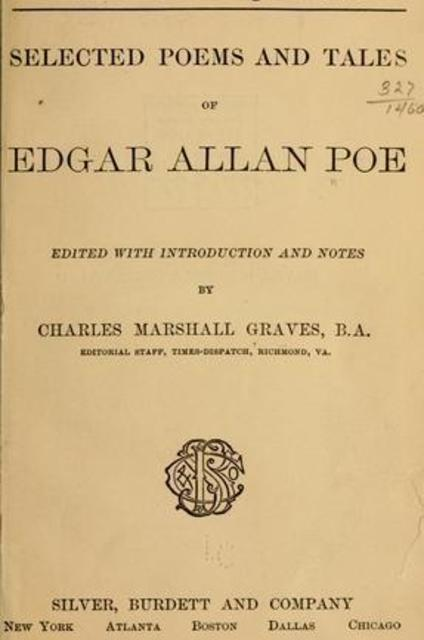 poe poetry tales and selected essays G r thompson: a selected bibliography eric carl link  edgar allan poe: poetry, tales, and selected essays texts established and textual annotations by patrick f.