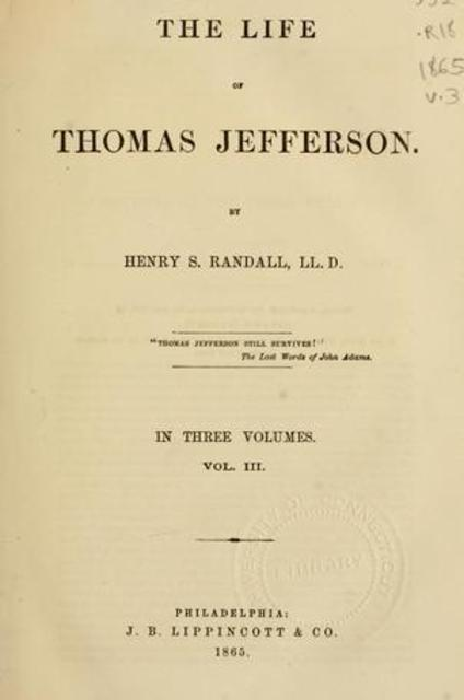 thomas jeffersons life essay Jefferson: a man of contradictions says thomas jefferson is the contradictions that attend the life and actions of thomas jefferson are played out and.