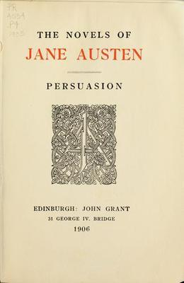 an analysis of the novel persuasion by jane austen Read the jane austen novel persuasion online published in 1817, jane austen's persuasion appeared after the death of the beloved author.