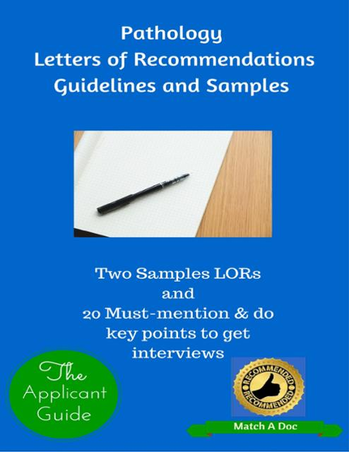 Pathology Letters of Recommendations Guidelines and Samples