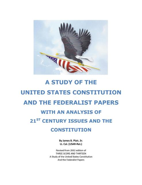 an analysis of the federalist papers in the united states